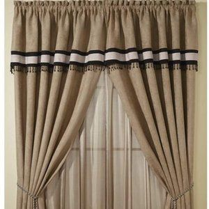 Beautiful set of Deluxe Curtains with Tassels NWT